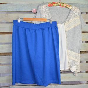 Jessica London Cobalt Blue Skirt Sz 22/24